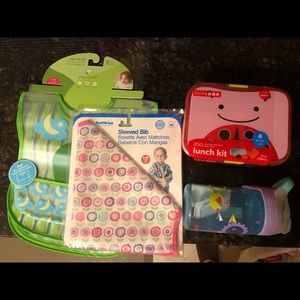 Other - NEW Toddler bibs and feeding set